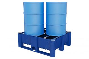 Spill Containment - 2  vertical מאצרה ל-4 חביות עומדות